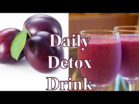HOW TO MAKE DAILY DETOX DRINK Prune Weight Loss Detox smoothie छँटाई वजन घटाने पेय