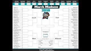 My 2018 Tournament Bracket Challenge!