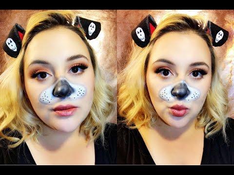 | Halloween | DIY Snapchat Dog Filter Makeup!