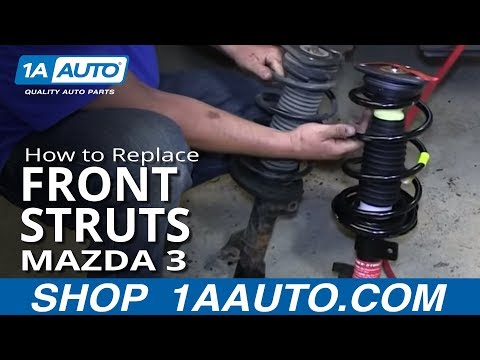 How To Replace Front Shocks Struts and Spring 04-13 Mazda 3