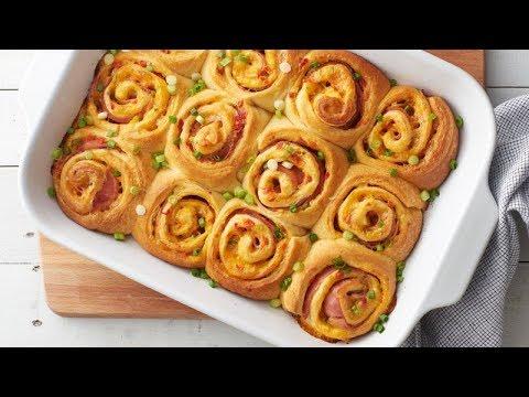 Hot Ham & Pimiento Cheese Crescent Roll-Up Sandwiches | Pillsbury Recipe