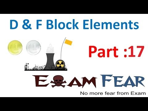 Chemistry D & F Block Elements part 17 (Oxidation States) CBSE class 12 XII