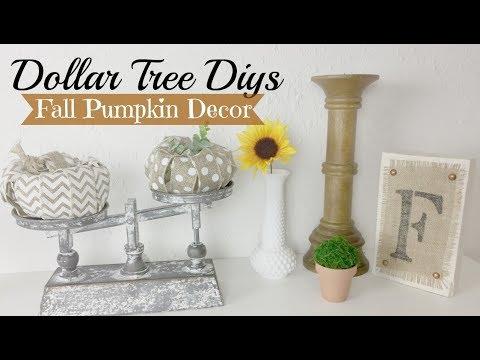 Dollar Tree Fall Pumpkin DIY | Fall Farmhouse Decor Ideas