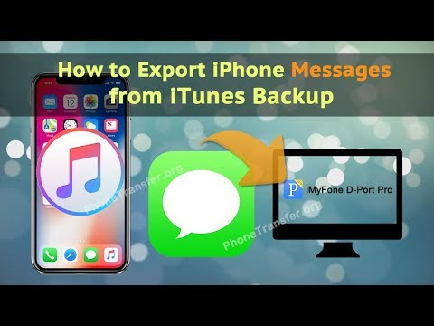 How to Export iPhone Messages from iTunes Backup