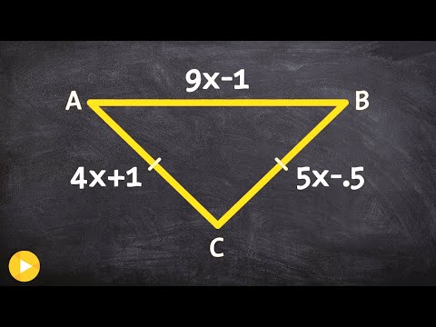 Determine the measure of each side of a isosceles triangle
