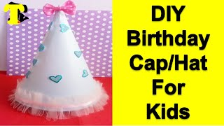 How To Make Birthday Cap / Party Hat For Kids    Tukkutv