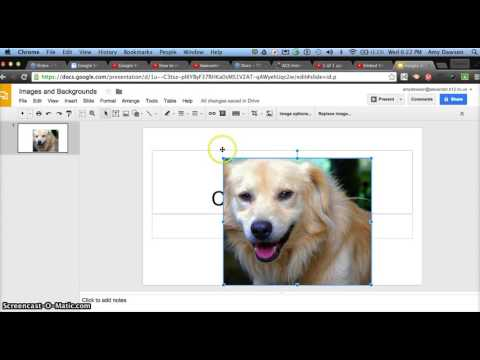 Images and Backgrounds in Google Slides