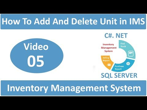 How To Add And Delete Units In Inventory Management System