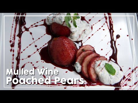 Mulled Wine Poached Pears - Today's Special With Shantanu