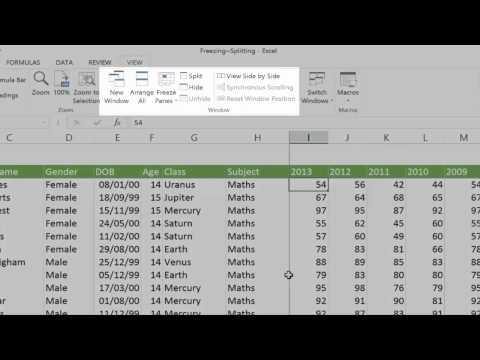 Learn Excel Online - Freezing & Splitting Screens