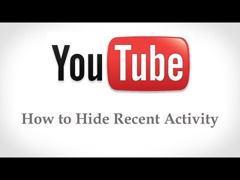 How to Hide Recent Activity On Youtube Account