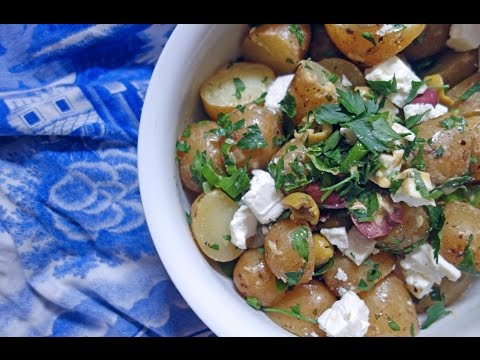 Easiest EVER Potato Salad with Olives and Feta || Tess Ward