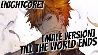 Nightcore - Till The World Ends (Male Version)
