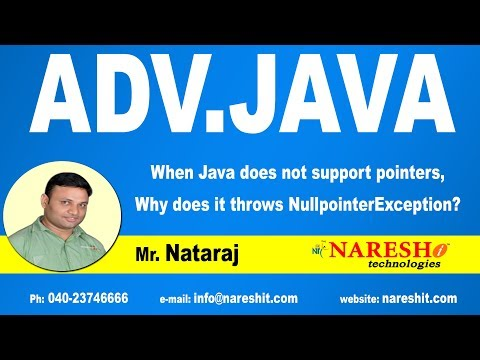 When Java does not support pointers, Why does it throws NullpointerException? | Adv.Java