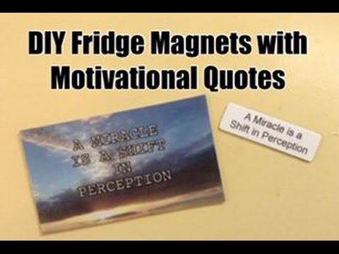 DIY Fridge Magnets with Motivational Quotes