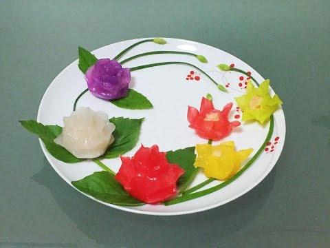 Flower shrimp dumplings | Har gow | Há cảo
