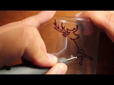 Glass Engraving for the Beginner Tutorial -  Deer on Candle Holder