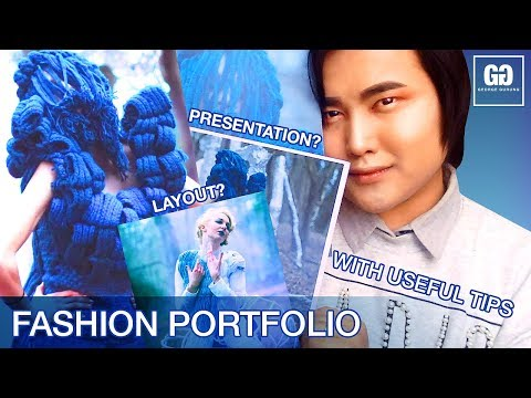 HOW I GOT IN FASHION UNI? FASHION PORTFOLIO // PRESENTATION & LAYOUT