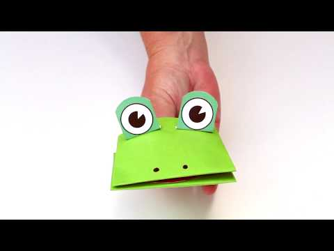 How to Make a Paper Frog Puppet