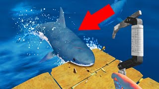 ATTACKED BY A SHARK! (Raft)