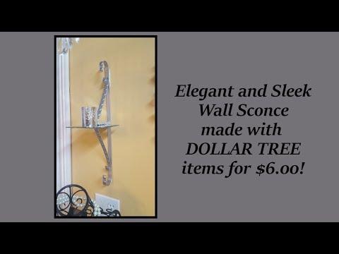 Dollar Tree DIY Sleek Wall Sconce