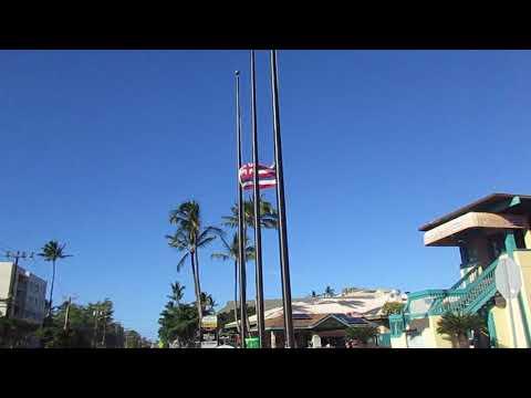 Hawaiian Flag at Half Mast
