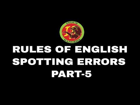 Rules of English Language - Part 5