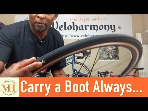 Why carry a boot in your patch kit | handling flat tires on a road bike