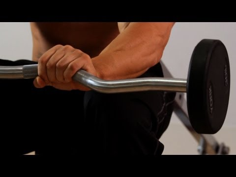 How to Do a Barbell Forearm Extension | Arm Workout