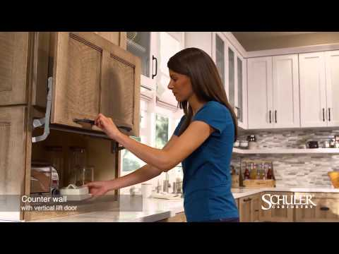 Schuler Cabinetry: Counter Wall Cabinet with Vertical Lift Door Appliance Garage