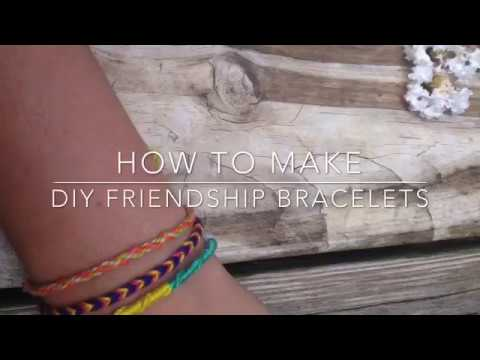 How to make 3 easy DIY Friendship Bracelets with string