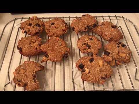 Oatmeal Cookies with my Homemade Oven dehydrated Apples