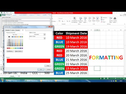 Date Reminder Function In Excel In Hindi | Highlighted Past Date | Haneef Abbasi