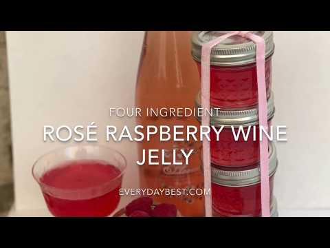 Rosé & Raspberry Wine Jelly Recipe