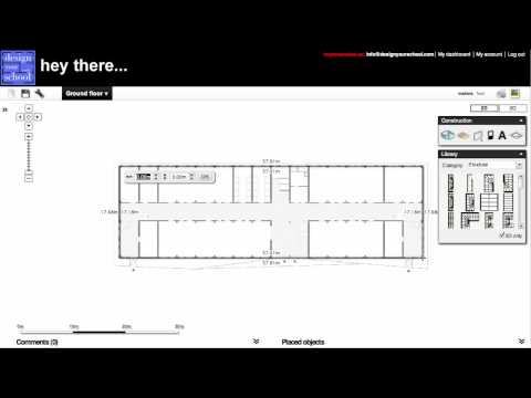 How to create a 3D floor plan of a school based on an imported drawing