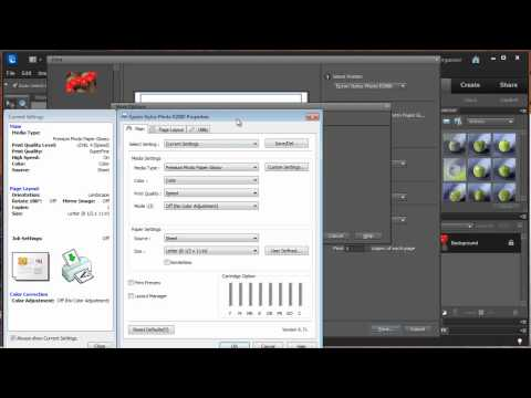 Photoshop Elements 10 - Using Printer Color Profiles for Epson