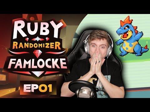 FAVORITE POKEMON ENCOUNTER! | Pokemon Ruby Randomizer Famlocke EP 1