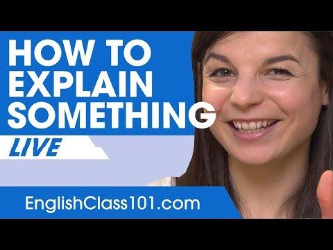 How to Explain Something in English - Basic English Phrases