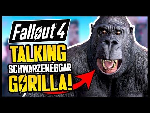 TALKING GORILLA COMPANION!   Fallout 4 Mods & Funny Moments
