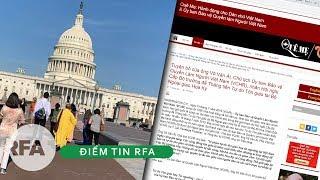 Điểm tin RFA    Khoảng 1 ngàn nhà hoạt động xã hội VN trên thế giới về Thủ Đô Mỹ tham dự hội nghị