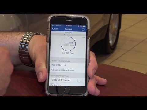 Using GM's Onstar mobile app