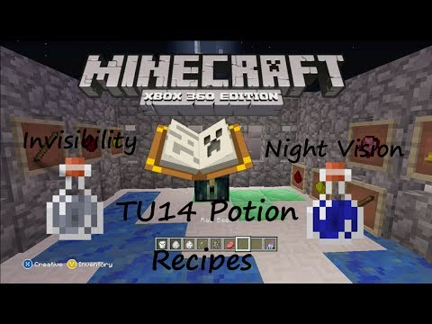 Minecraft Xbox- (TU14 Potion Recipes) Tutorial