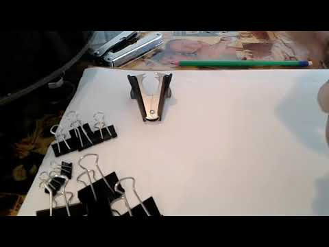 How to make a dinosaur using binder clips