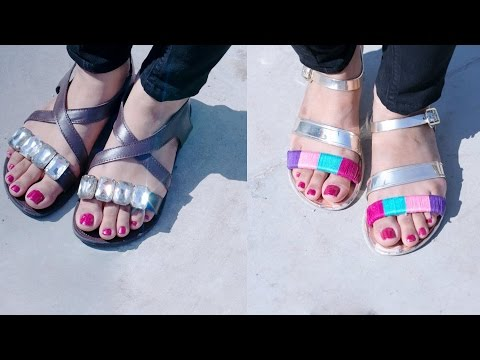 DIY: 2 Ways To Glam Up Your Sandals