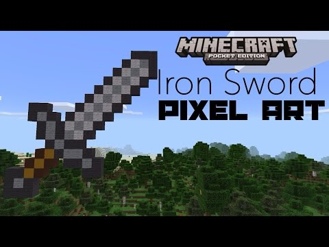 [Minecraft PE] Iron Sword Pixel Art Tutorial