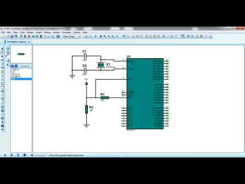 LED blink AT89C51 microcontroller programming C with simulation
