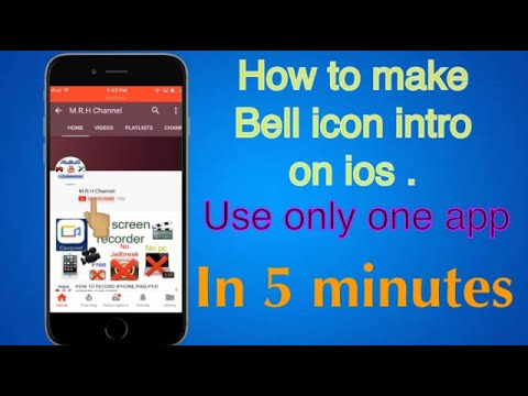 HOW TO MAKE BELL ICON INTRO ON IOS.