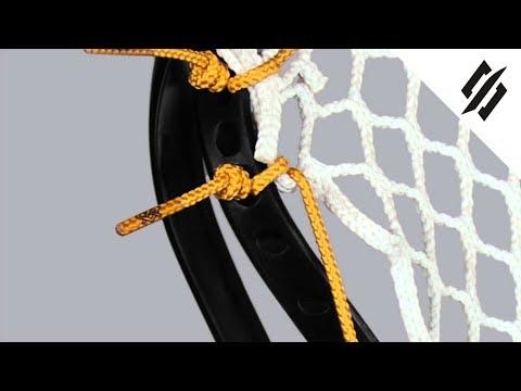 How to String a Lacrosse Head | Sidewall Loop Start | Step 4 | StringKing