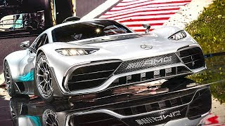 Mercedes AMG Project One Engine DRIVING Video Hypercar AMG Project One Drivetrain Concept 2017
