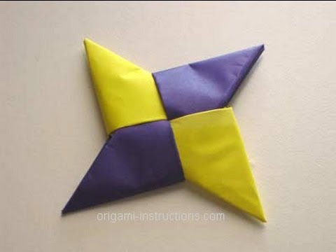 How To | Make A Paper Ninja Star
